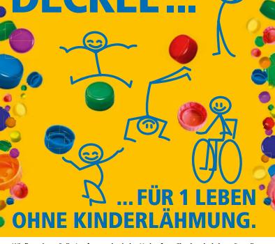 500 Deckel … für 1 Leben ohne Kinderlähmung