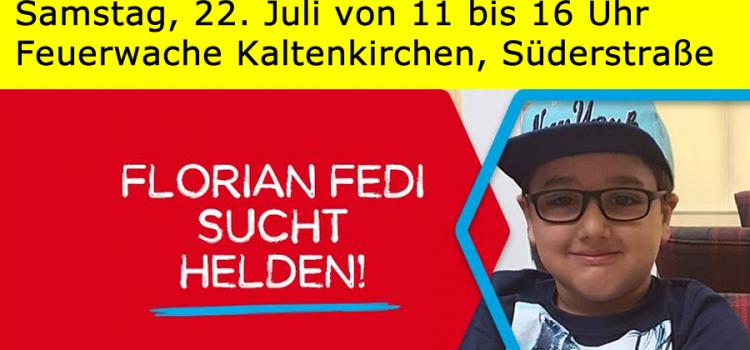 Florian sucht Helden – Typisierung am 22.07.17
